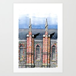 "Brigham City Tabernacle ""Built by Farmers Hands"" Art Print"