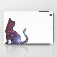space cat iPad Cases featuring Space Cat by Alex Hughes