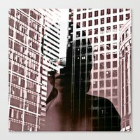 anonymous Canvas Prints featuring anonymous by MehrFarbeimLeben