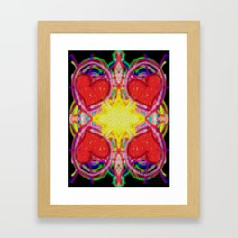 Sun Of Hearts Framed Art Print