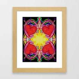 Sun Of Hearts Framed Art Print