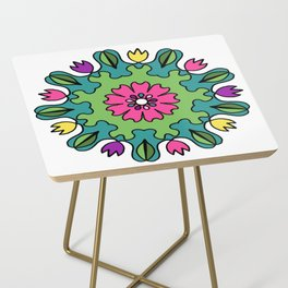 Tulip Delights Mandala Side Table