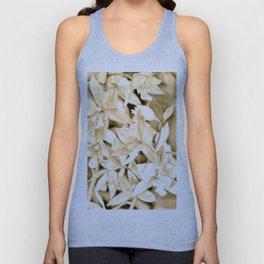 Cascading orchids - Tan Unisex Tank Top