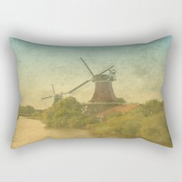 Landscape with mills Rectangular Pillow