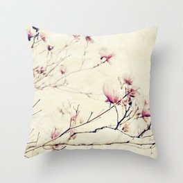 Spring Botanical - Tulip Tree, Magnolia × soulangeana II Throw Pillow