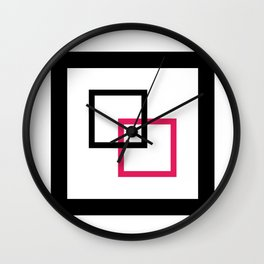 Minimalist squares interlocked Wall Clock