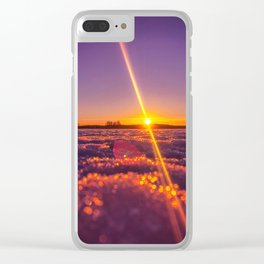 Windy sunset Clear iPhone Case