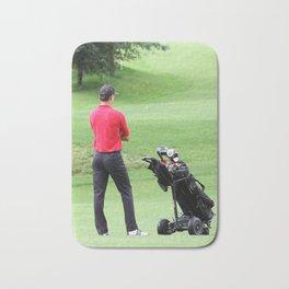 The golfer Bath Mat