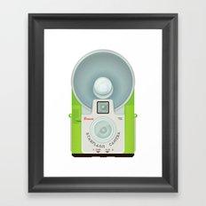 VINTAGE CAMERA GREEN Framed Art Print