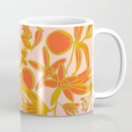 Orange Blossoms on Peach Coffee Mug