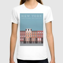 West Village NYC Travel Poster T-shirt