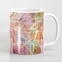 cleveland Mugs featuring Cleveland by MapMapMaps.Watercolors