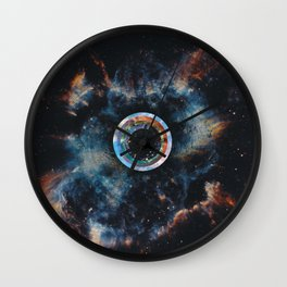 Hawking radiation (tribute to Stephen Hawking) Wall Clock