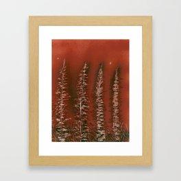 Tamarack Trees Framed Art Print