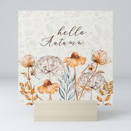 hello autumn Mini Art Print
