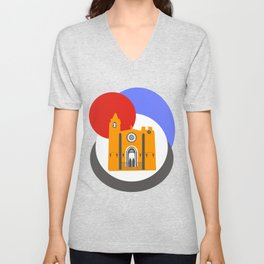 Noia, a beautiful town in Galicia Unisex V-Neck