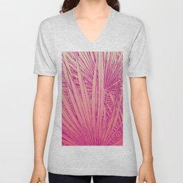 pink palm tree Unisex V-Neck