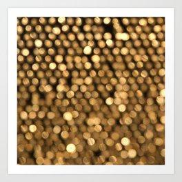 BOKEH GOLD Art Print