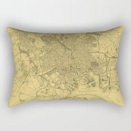 Vintage Baltimore Map 1919 Rectangular Pillow
