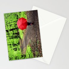 rainy woods Stationery Cards