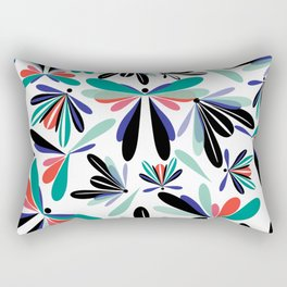 Colored poster small insects, butterflies, dragonflies, spring invitation Rectangular Pillow