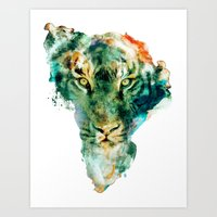 african Art Prints featuring African Wildlife by RIZA PEKER