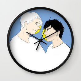 victuuri gold - yuri on ice Wall Clock