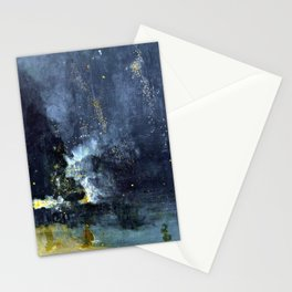 James Abbott McNeill Whistler Nocturne in Black and Gold The Falling Rocket Stationery Cards