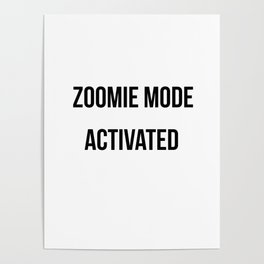 Zoomie Mode Activated Design Poster