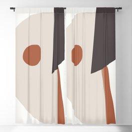 abstract minimal 39 Blackout Curtain