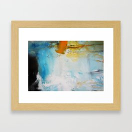 Blue Abstract painting Print  Framed Art Print