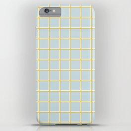 MINIMAL GRID BLUE iPhone Case