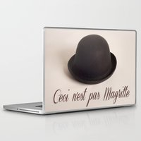 magritte Laptop & iPad Skins featuring Magritte - Ceci n'est pas Magritte by Maressa Andrioli