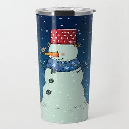A song for Mr. Snowman Travel Mug