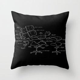 Eames Lounge Chair Diagram Throw Pillow