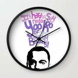 Sheldon Yoohoo Wall Clock