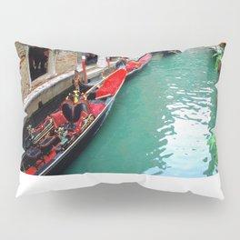 Gondolas On A Small Venetian Canal Pillow Sham