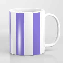Slate blue - solid color - white vertical lines pattern Coffee Mug