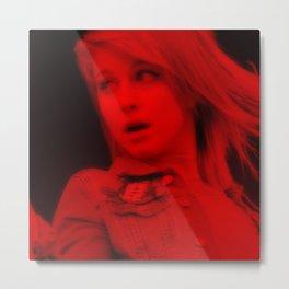 Hayley Williams - Celebrity (Florescent Color Technique) Metal Print