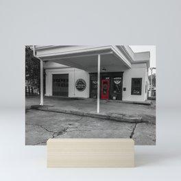 Flower Shop in selective color Mini Art Print