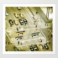 escher Art Prints featuring Escher Intersection by Vin Zzep