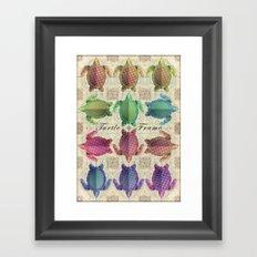 Turtle Frame Framed Art Print