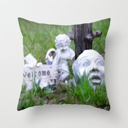 Yard Art Garden Decor Throw Pillow