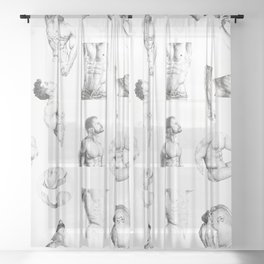 Nood Dood Pattern Sheer Curtain