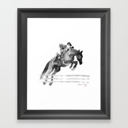 Horse (Jumper) Framed Art Print