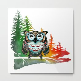 Native Owl Metal Print