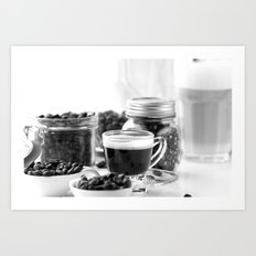 Black and white coffee bar Art Print