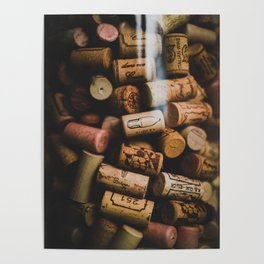 A collection of Wine Corks Photo Poster