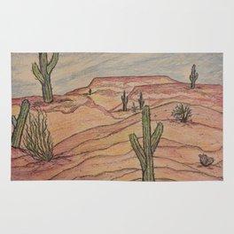 Saguaros in Arizona Rug