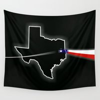 dark side Wall Tapestries featuring Dark Side of Texas by TMPsg